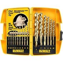 DEWALT DW1956 Pilot Point Twist Drill Bit Assortment, 16-Piece
