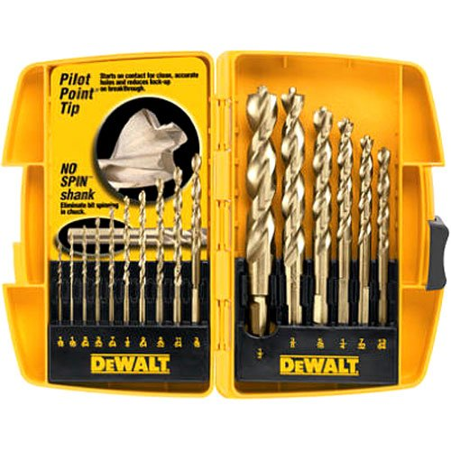Twist Drill Set - DEWALT DW1956 Pilot Point 16-Piece Twist Drill Bit Assortment