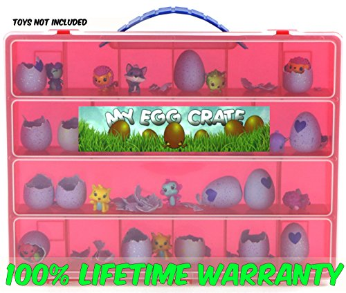 My Egg Crate Storage Organizer By Life Made Better   Compatible With The Hatchimals And Hatchimal Colleggtibles Brands   Durable Carrying Case For Mini Eggs  Easter Eggs   Speckled Eggs   Red