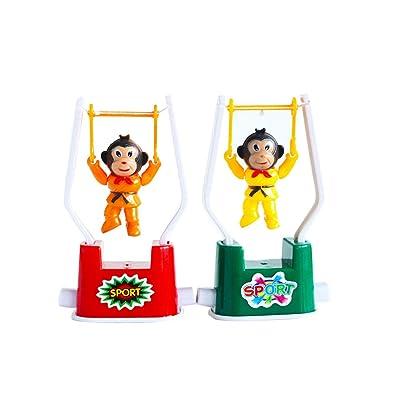 2 PCS Creative Wind Up Toys Funny Gymnastics Monkey Flip Toy for Kids Color Random : Baby