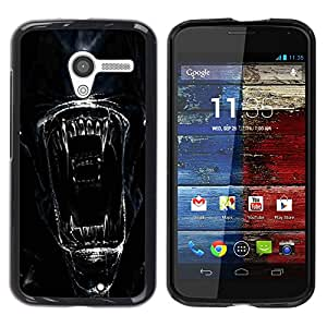 Impact Case Cover with Art Pattern Designs FOR Motorola Moto X 1 1st GEN I Alien Face Close Up Betty shop