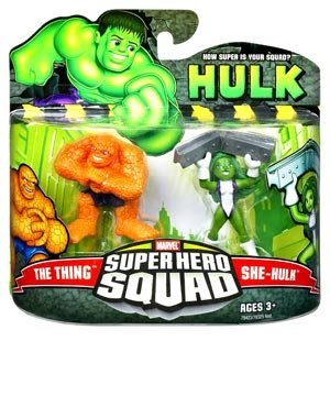 Incredible Hulk Movie Series 2 Super Hero Squad 2-Pack She-Hulk and Thing by Hasbro (Thing Superhero)
