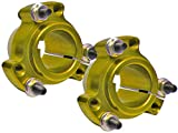 Set of 2 - Gold 1-1/4'' Rear Lightened Aluminum Racing Wheel Hubs Go Kart Drift Trike