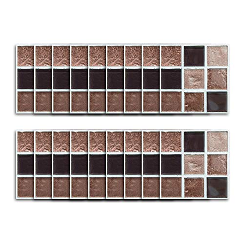 - MiniPoco 18Pcs Multi Mosaic Tile Wall Sticker DIY Transfer Kitchen Bathroom Wall Sticker 10x10CM (A)