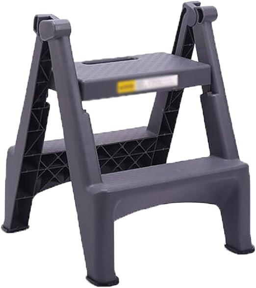 LJFYMX Escalera Pesada Plegable Escalera de 2 Pasos Pedal de plástico Engrosado Plegable Adecuado para el hogar/Cocina/Garaje diseño Plegable: Amazon.es: Hogar