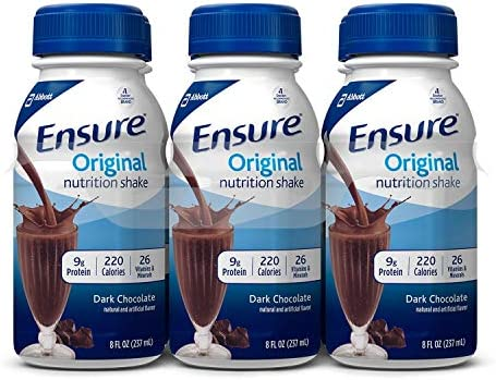 Ensure Original Nutrition Shake, Dark Chocolate 8 fl. oz, 24 ct.