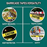 Yellow Caution Tape 2-Pack, 3-inch x 1000