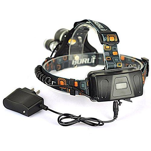 Boruit RJ-5001 6000 LM 3 x XM-L2 CREE LED Rechargeable Headlamp Headlight + AC Charger