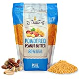 PB Trimmed PURE 100% Premium Powder Peanut Butter 1 LB Pouch, NOTHING ADDED, No Sugar, No Salt (PURE, 1 LB)