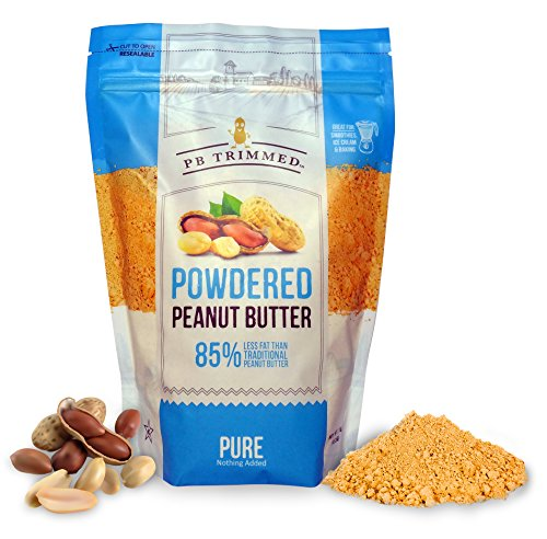 PB Trimmed PURE 100% Premium Powder Peanut Butter 1 LB Pouch, NOTHING ADDED, No Sugar, No Salt (PURE, 1 - Peanut Powder Butter Pb Fit