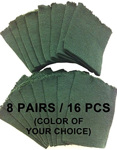 Rib Knit Material (Knit/Knitted Cuff, Rib Knit Fabric Cuff - Material for making Cuffs, Collars and Waistbands, etc - 8 Pairs/16 pcs (Color of Your Choice))