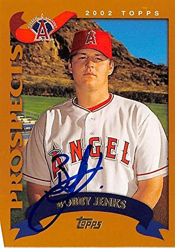 Bobby Jenks autographed baseball card (Anaheim Angels) 2002 Topps #T172 - Baseball Slabbed Autographed Cards