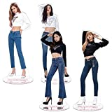 Youyouchard Kpop Blackpink Acrylic Plastic T-Shaped Character Image Display Stand Lisa Rose Jennie Standing Plates Deco Fans Gift(4pcs-1)