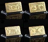 us gold bar - 1899 Various Mint Marks -1901 24K Gold Plated Bar Set $1 $2 $5 & $10 US Bills New