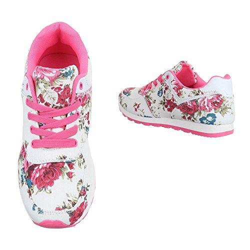 Ital-Design - zapatos de tiempo libre Mujer Weiß Multi BL176