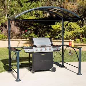 Amazon.com : GAZEBO HARD TOP GRILL COVER WITH GLASS ...