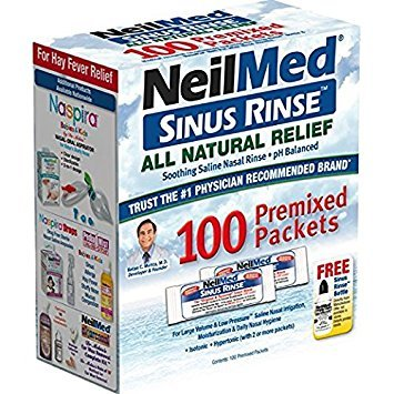 (NeilMed Sinus Rinse All Natural Relief Premixed Refill Packets 100 Each)