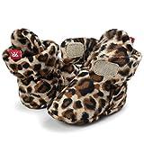 Joyinglife Baby Comfy Fleece Bootie Non-Skid Bottom Sole Soft Stay-On Ajustable Bootie-Sock, 043-Leopard S