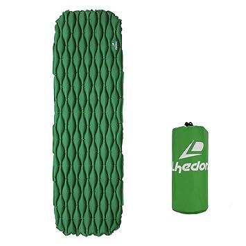 Colchón Inflable, Lhedon Ultraligero Compacto Cojín de Colchón para Camping A prueba de Humedad Esterillas