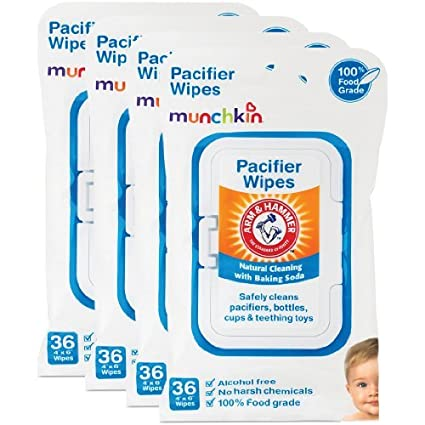 Munchkin Arm & Hammer Chupete Wipes (4 packs de 36 toallitas ...