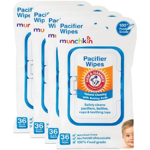 Munchkin Arm & Hammer Pacifier Wipes (4 Packs of 36 wipes each)