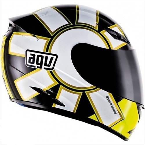 AGV K3 Gothic Full Face Motorcycle Helmet (Multicolor, Large)