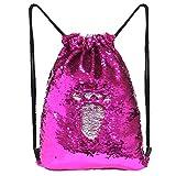 MHJY Sequin Drawstring Bag Mermaid Backpacks Magic Flip Sequin Backpack Reversible Sequin Bag for Dance Gym Sport Beach Holiday Travel Backpack