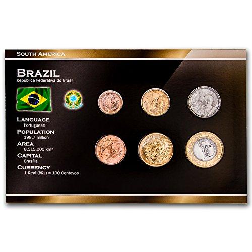 BR 2004-2007 Brazil 1 Cruzerio-1 Real 6-Coin Set BU Brilliant Uncirculated