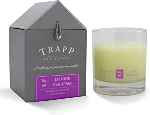 Trapp Signature Home Collection No. 60 Jasmine Gardenia Poured Scented Candle, 7 Ounce - Set of 2