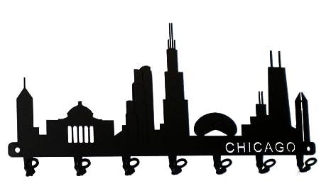 Clave Gancho - Chicago Skyline - Llavero de pared, ganchos ...