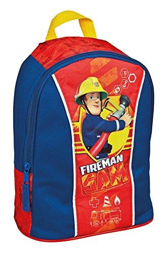Undercover FSBT7631 - Kindergartenrucksack Feuerwehrmann Sam, ca. 27 x 22 x 14 cm