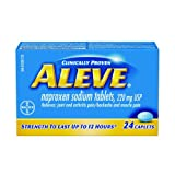 ALEVE Pain Relief Caplets, Up To 12-Hour Relief, Naproxen Sodium 220mg, 24 Caplets