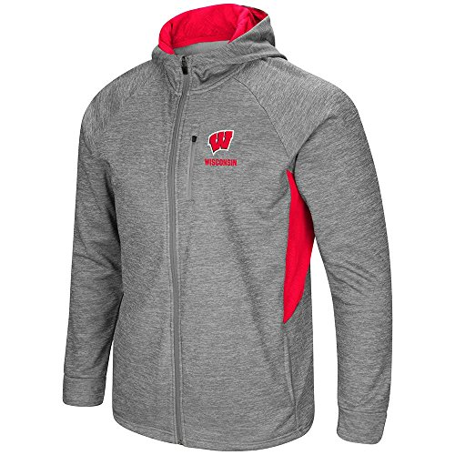 (Colosseum Mens Wisconsin Badgers Full Zip Jacket - L)