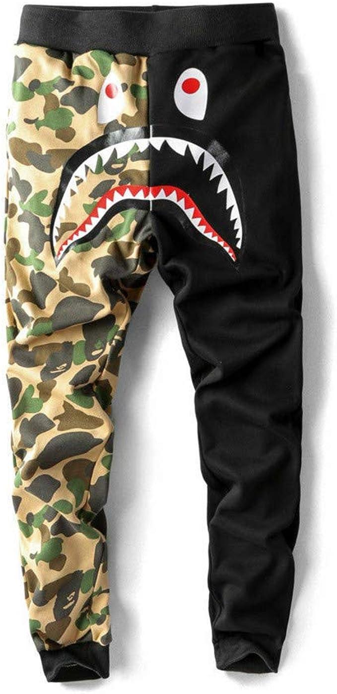 Bape A Bathing Ape Shark Head - Pantalones de chándal para Hombre ...