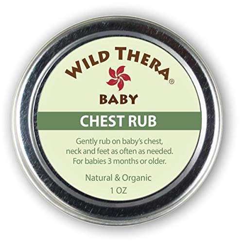 (Wild Thera Baby Chest Rub Balm. Herbal Organic solution for sniffles, congestion, sinus, allergies & runny nose. Gentle relief with Eucalyptus, Ginger, Thyme, Echinacea and more help baby sleep.)