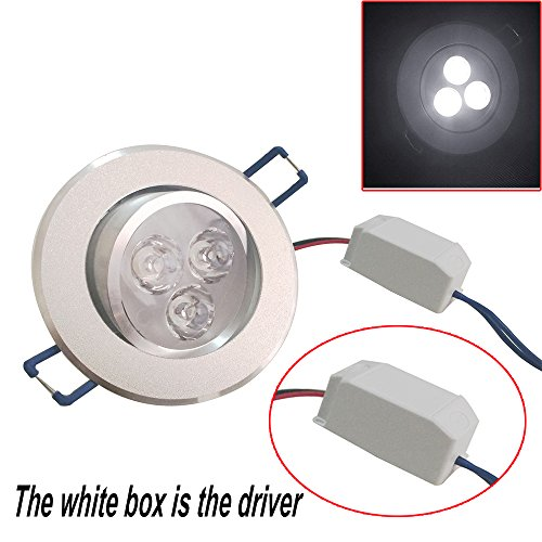 Pack Of 10 Pocketman 110v 3w Led Ceiling Light Downlight