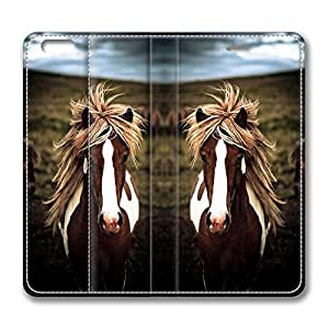 Brian114 5s Case, iPhone 5s Case - Best Protective Scratch-Proof Leather Cases for iPhone 5s Gorgeous Horse Customized Design Folio Flip Leather Case Cover for iPhone 5s Inch