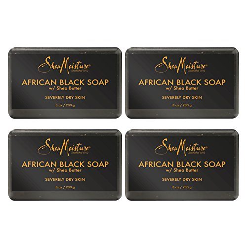 SheaMoisture African Black Soap, 8 Ounces, Pack of 4