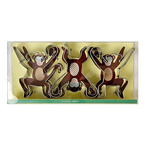 Meri Meri Monkey Cookie Cutter, Metal, Set of 3