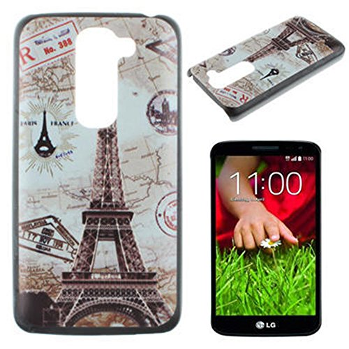 LG G2 D802 Case, IVY Paris Tower Graphic,Snap-on PC Hard Case Cover Skin For LG G2 D802