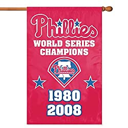 Party Animal Philadelphia Phillies- 2 Time Champs Banner MLB Flag