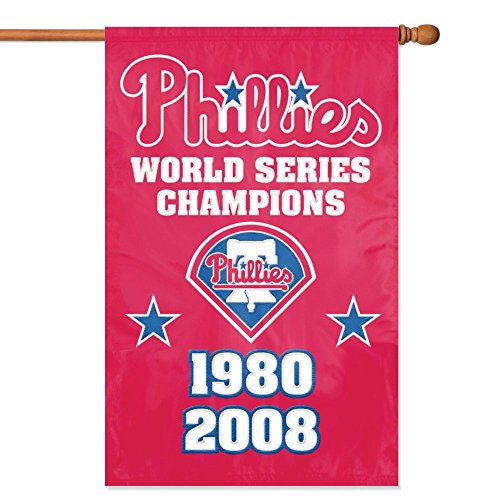 lphia Phillies- 2 Time Champs Banner MLB Flag ()