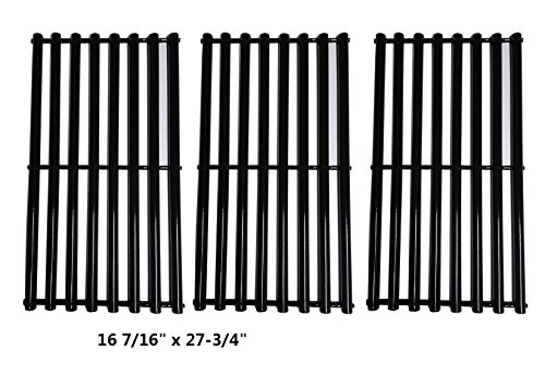 Gas Grid - Zljoint Porcelain Steel Cooking Grid Replacement for Gas GrillKenmore 146.16133110 and Gas Grill Models Kenmore 146.16132110, Set of 3