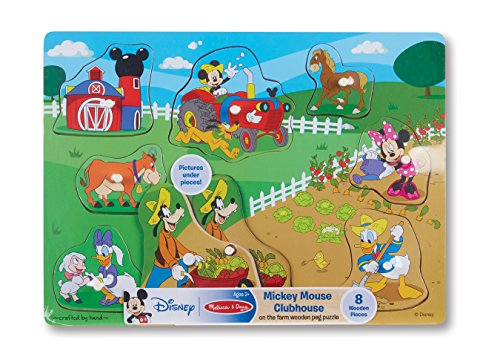 Melissa & Doug Mickey Mouse Clubhouse On The Farm Wooden Peg Puzzle