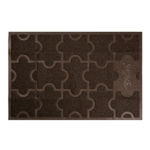BIGA Large Front Door Mat Rubber Shoe Rugs Welcome Entrance Waterproof Anti Slip Carpet for Outside Inside Patio Entry Way High Traffic Areas