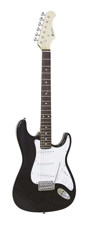 Guitarra eléctrica PATRON con accesorios, negro-blanco - Guitarra para principiantes / Instrumento de cuerda - klangbeisser: Amazon.es: Hogar