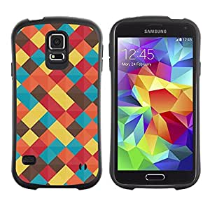"Pulsar iFace Series Tpu silicona Carcasa Funda Case para Samsung Galaxy S5 , Trullo en colores pastel amarillo Colores Manta"""