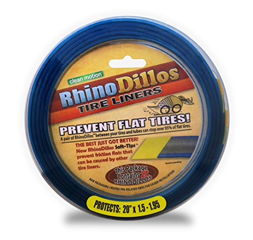 Resistant Liner (Rhinodillos YELLOW Bicycle Tire Liners 20 x 1.5-1.95 Flat Prevention)