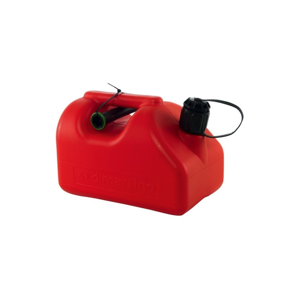 5 Litre Pro Fuel Tank Twin Spouts Jerry Can Approved Road Rail Sea & Air 5L 7031 Dimartino