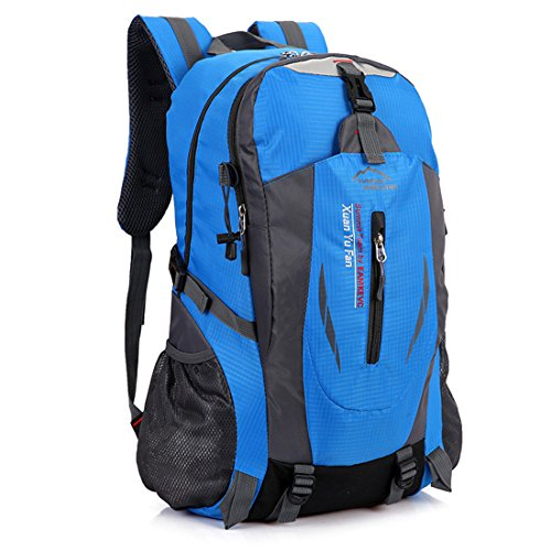 Dunland Rucksack Performance Sportrucksack Sporttasche Tasche Nylon Sport Reisen Wandern Backpack Blau